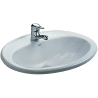 Vasque à encastrer JAVA'N blanc 56x47 ROCA