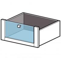 Tiroir blanc grand hauteur façade en verre ESPACE A/SC largeur 70cm