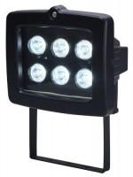 Projecteur halogène à 6 Leds noir à fixer 6W ELECTRALINE CBB