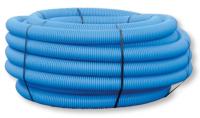 Fourreau TPC PE HD annelé bleu double paroi 50x90 HEGLER