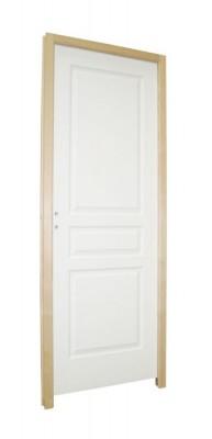 Bloc-porte postformé alvéolaire prépeint TD BALLAY huisserie H72Xx56mm droite poussant  rive droite PDDT 204x73cm