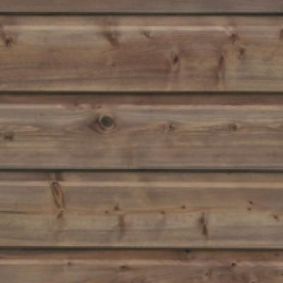 Bardage clin sapin blanc du Nord choix A/B profil moutier traité classe 3 marron longueur 20x132x4500mm NORSILK