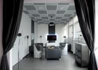 Plafond acoustique laine de roche COLOR-ALL charcoal bord droit 600x600x20mm carton de 24 ROCKFON