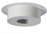 Plaque de finition plafond ronde 220mm blanc FPH220I/G POUJOULAT