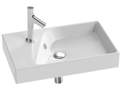 Plan-vasque RYTHMIK 60x37 meulé blanc JACOB DELAFON