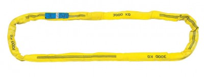 Estrope synthétique gaine renforcée polyester jaune 3m de longueur charge 3T COBALTIX