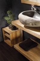 Vasque ronde à poser SAMOA en matériaux naturels COLLIN ARREDO