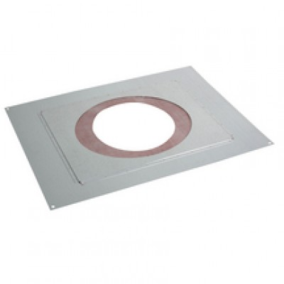 Plaque de distance sécurité étanche rampant INOX-GALVA, pente 41 à 80%, diamètre 180/230mm POUJOULAT