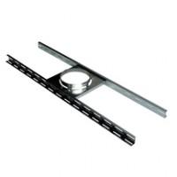 Support sur plancher  INOX-INOX diamètre 180/230mm  POUJOULAT