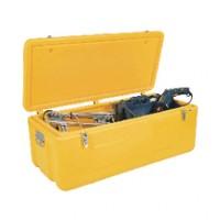 Coffre de chantier baroudeur jaune 110x50x45cm 240l TUBESCA