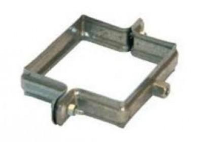 Collier carré zinc prépatiné diamètre 100x100mm HILD