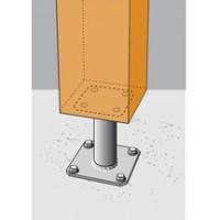 Pied de poteau fixe à platine 100x100mm épaisseur 4mm SIMPSON