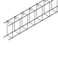 Armature de linteau LT pour toiture fermettes 2 filants cadre HA6 diamètre 10mm longueur 6000mm 80x120mm FIMUREX