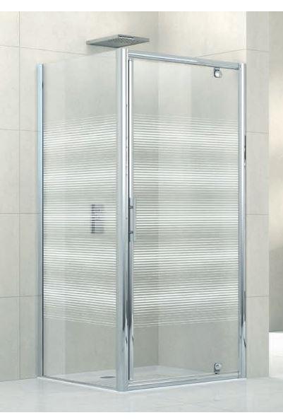 Porte de douche lunes g pivotante 96 verre transparent for Porte douche novellini