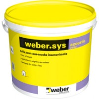 Colle carrelage WEBER.SYS ACOUSTIC blanc seau de 18kg