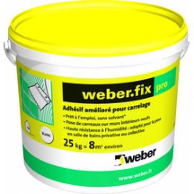 Adhésif amélioré pour carrelage (D2 E) WEBER.FIXE PRO blanc seau 25kg WEBER