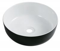 Vasque à poser DAILY O COLOR blanche  noire à l'extérieur
