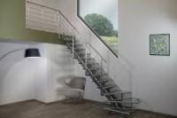 1/4 tournant pour escalier OPERA 180 sapin hauteur 275 droit