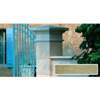 Couronnement de pilier plat teinte Lubéron 50x50x3,3cm