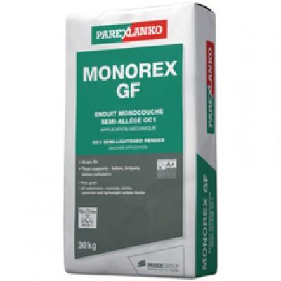 Enduit monocouche semi-allégé grain fin MONOREX GF blanc naturel sac 30kg PAREXLANKO