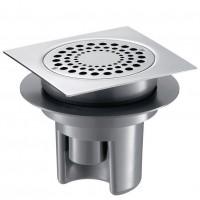 Siphon de sol PVC/inox 150x150mm DELABIE