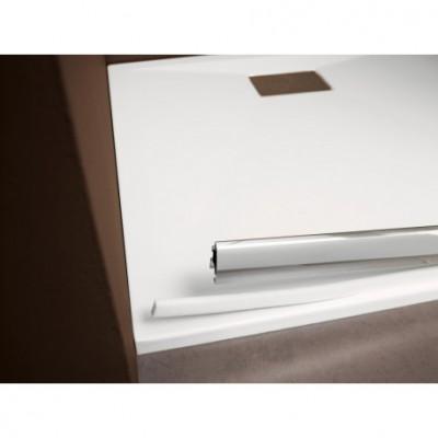 Paroi de douche Macao blanc transparent 105-115 AQUAPRODUCTION POUR KINEDO