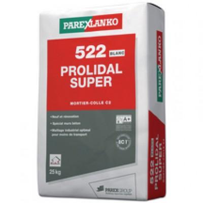Mortier PROLIDAL SUPER 522 blanc 25kg PAREXGROUP