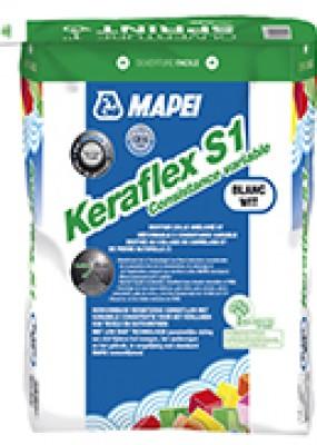 Mortier colle KERAFLEX S1 gris 25kg MAPEI