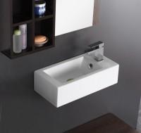 Lave mains Domino avec robinetterie à droite 50x25,5 cm ALTERNA
