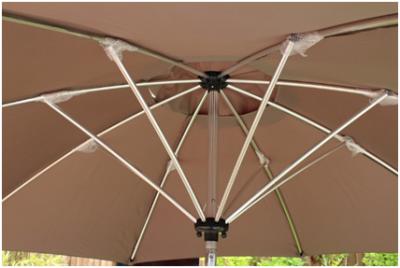 Parasol cambrure tabac hauteur 2. 35m HEDONE