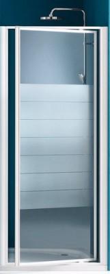 Paroi de douche porte pivotante largeur 96/102cm verre transparent BASIC SEGMENT