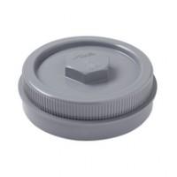 Tampon de visite mâle femelle PVC avec bouchon gris diamètre 140mm NICOLL