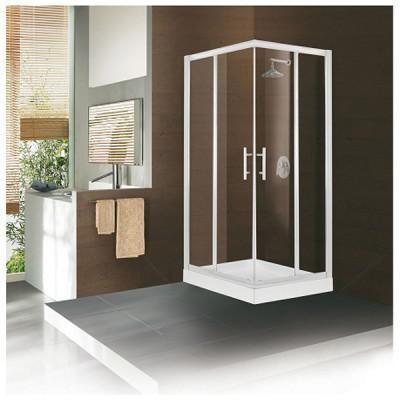 Paroi de douche 1/2 acces d'angle droit CONCERTO 88-91 verre transparent