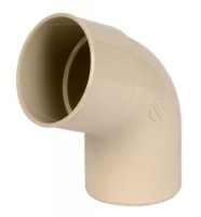 Coude PVC25 67 degré mâle femelle sable NICOLL