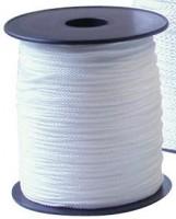 Cordeau câble blanc synthétique 100mx4mm