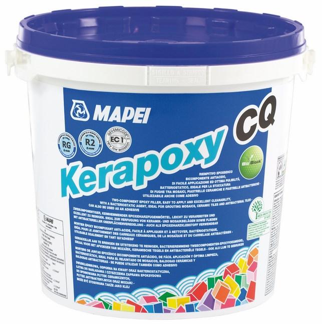 Mortier joint epoxy bicomposant pour sol et mur KERAPOXY CQ 114 anthracite kit de 3kg MAPEI ...