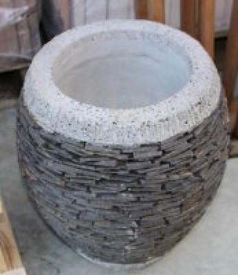 Pot Pila rond hauteur 80x40x20cm
