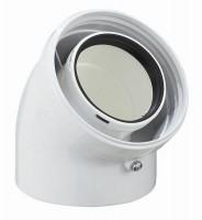 Coude 45° DUALIS EP diamètre 60/100mm condensation fioul/gaz POUJOULAT