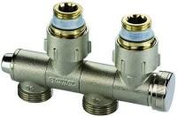 Module hydraulique pour radiateur 6 trous à robinetterie intégrée femelle 15x21 (1/2'') 20x27 (3/4'') eurocône entraxe 50mm COMAP