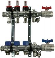 Ensemble répartiteur 6 circuits sans raccord acier 444x74x350mm ACOME