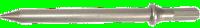 Burin pointu long en acier 175mm LACME