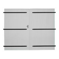 Porte de garage bois 2 vantaux vénus 2100x2400mm SOTHOFERM
