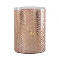 Vase photophore gainé cuivre 20cm hauteur 27.5cm ATHEZZA