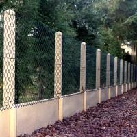 Poteau muret 12x12cm hauteur 225cm angle pour clôture N°14 ROUSSEAU CLOTURES