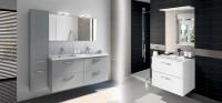 Meuble/vasque PREFIXE CODE avec tiroirs blanc 70cm BATH DISTRIBUTION / AQUARINE