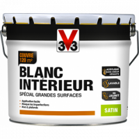 Peinture chantier blanc finition satin 10l V33
