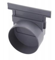 Fond de naissance d'extrémité ou latéral diamètre 100mm noir NICOLL