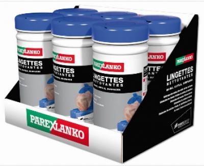 Lingettes nettoyantes d'outillage, pots de 70 lingettes PAREXGROUP