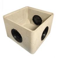 Boîte de branchement béton BBO 25 3 opercules 30x30x24cm LEGOUEZ