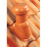 Sortie de ventilation DOUBLE ROMANE VMC brun diamètre 150mm MONIER